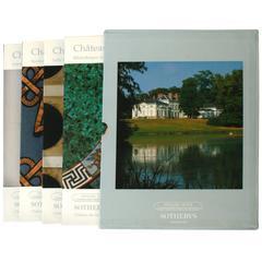 Sotheby's Catalogues from Château De Groussay Auction, Four Volumes
