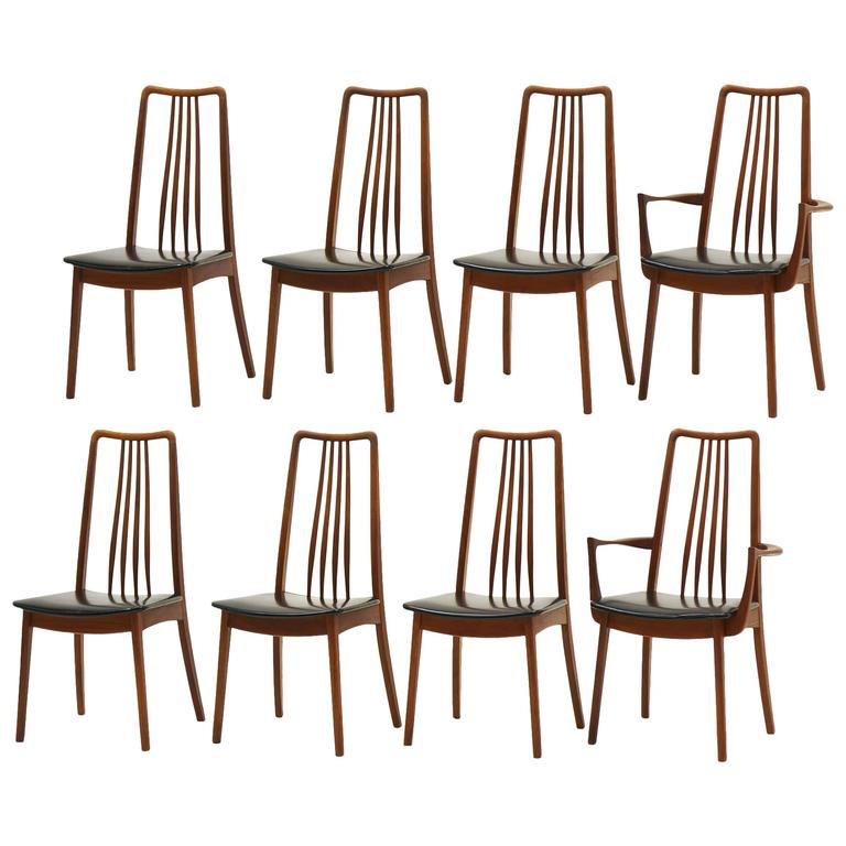 Set of Eight Danish Modern Anders Jensen, Holstebro, Denmark Teak Dining Chairs