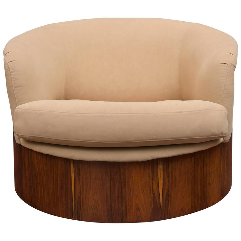 George Mulhauser for Plycraft Swivel Lounge Chair