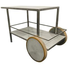 James de Wulf Concrete and Stainless Steel Bar Cart