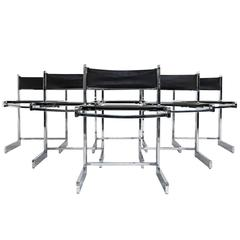 Mid-Century Modern Chrome Dining Chairs