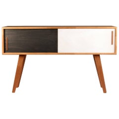 Contemporary Sideboard Cabinet BA Black and White in Solid Oak