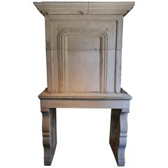 Antique 18th Century French Stone fireplace