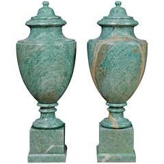 20th Century Neoclassical Marble Emerald Urns