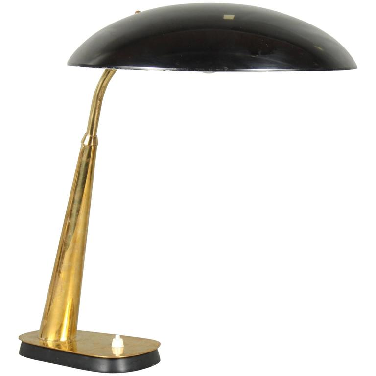 Christian Dell Table Lamp, Model 6770 for Kaiser, 1930s, Brass