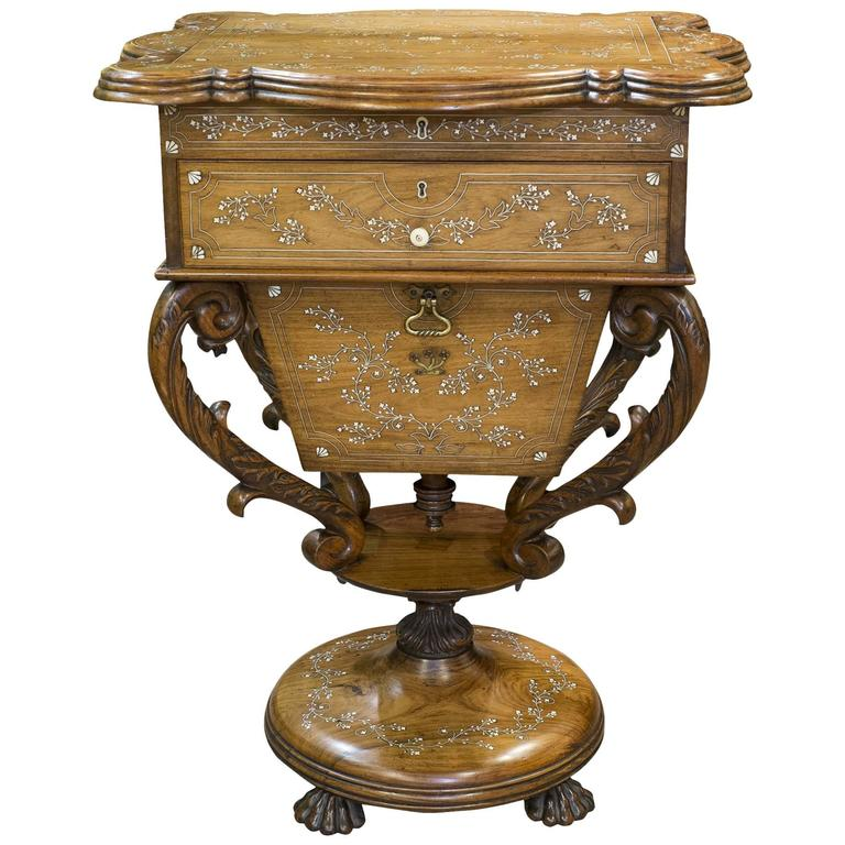 Anglo Indian Sewing Table