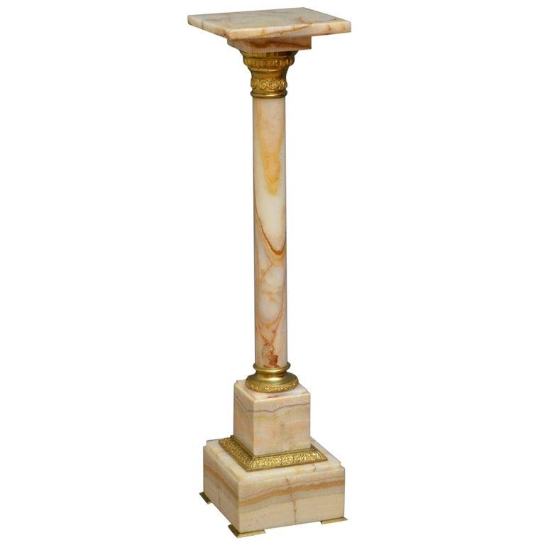 Edwardian Marble Column For Sale