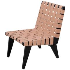 Rare Large Klaus Grabe Lounge Chair in Black and Beige