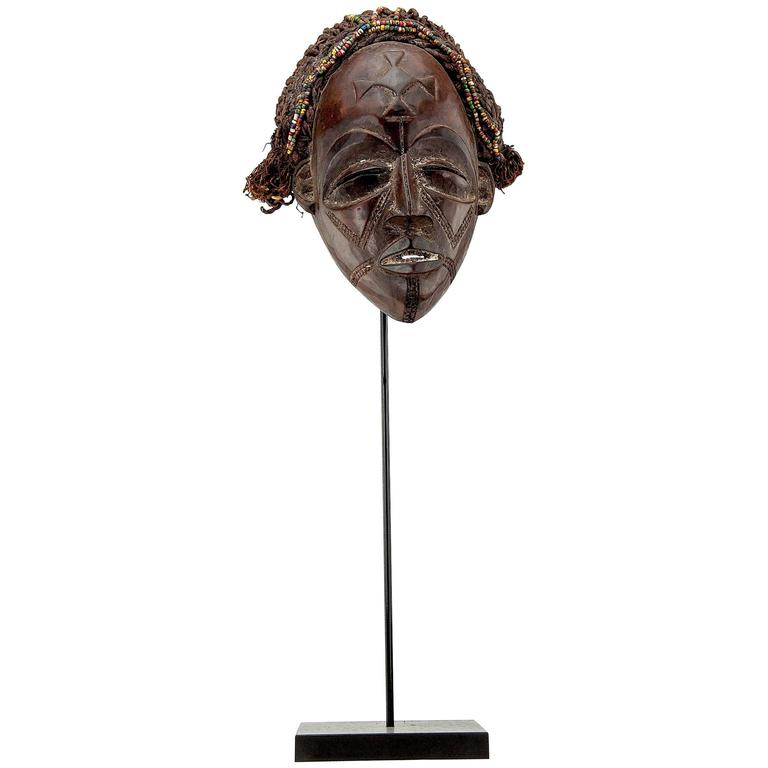 Highly Decorative Wood African Mask
