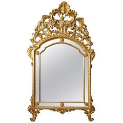 20th Century Italian Mirror in Golden Wood in Louis XV Style