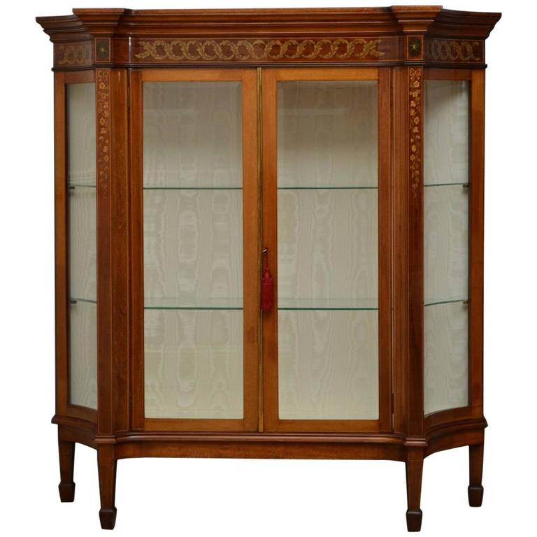 Edwardian Mahogany Low Display Cabinet