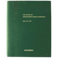 Auction Catalogue from the Estate of Ambassador Pamela Harriman
