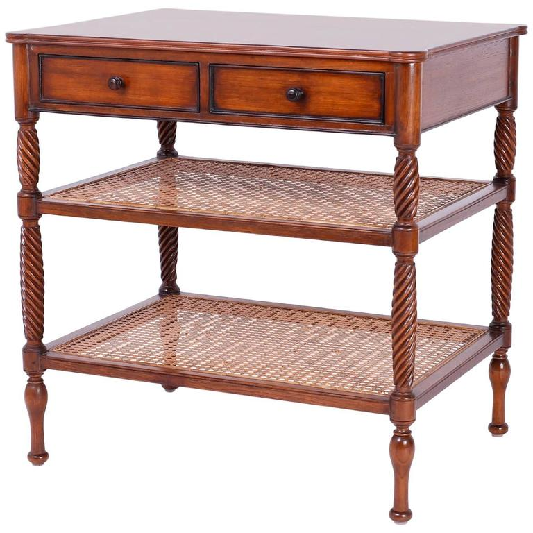 british colonial style two tiered side table or console for sale at 1stdibs. Black Bedroom Furniture Sets. Home Design Ideas