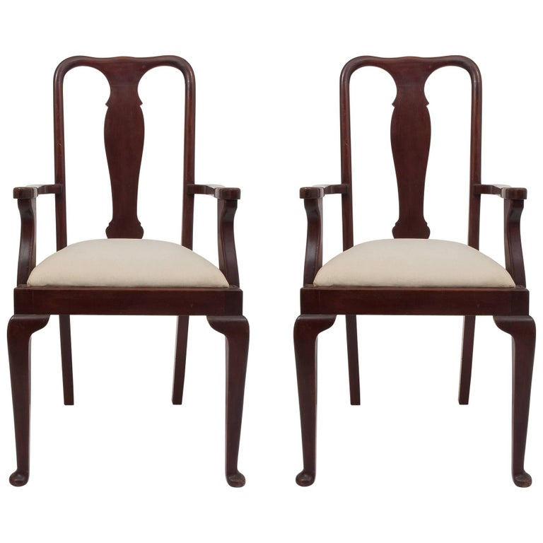Old English Dining High Chairs. Complete With Other Six Chairs For Sale