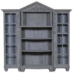 Antique French Painted Bookcase Display Cabinet, circa 1890