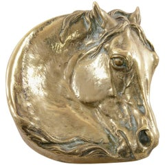 19th Century Bronze Vide Poche or Dish of a Horse's Head Signed by E. Lancere