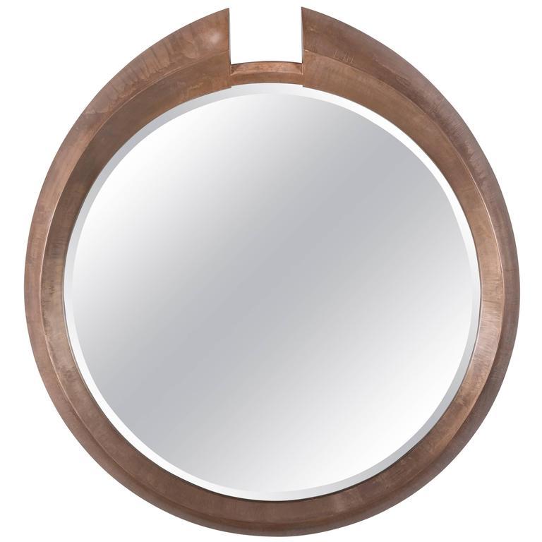 Large Modern Round Arpels Wall Mirror 1