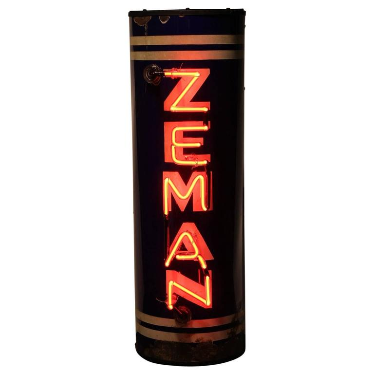 Rare 1930s Zeman Brewery Neon Sign For Sale