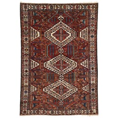 Antique Persian Bakhtiari Rug with Modern Tribal Style