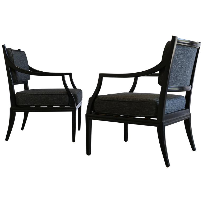 Rare Armchairs by Edward Wormley for Dunbar