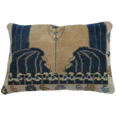 Vintage Turkish Eclectic Rug Pillow