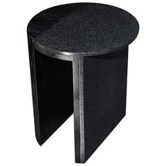Gibbous Black Lava Side Table by Robert Sukrachand, Made in USA