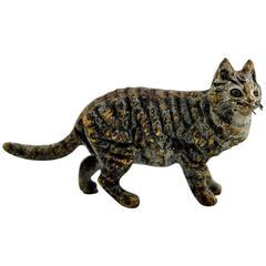 Vienna Bronze, Standing Cat, High Quality Bronze Figure, Probably Franz Bergmann
