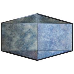 Gem Antique Cobalt Blue Mirror by Robert Sukrachand, Made in USA