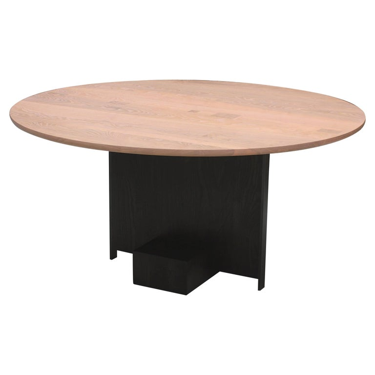 jupiter handmade contemporary solid wood and metal round dining table for sale at 1stdibs. Black Bedroom Furniture Sets. Home Design Ideas