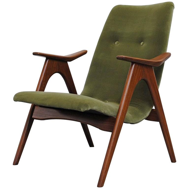 Mid Century Modernist High Back Or Desk Chair W New: Mid-Century Modern High Back Slipper Chair For Sale At 1stdibs