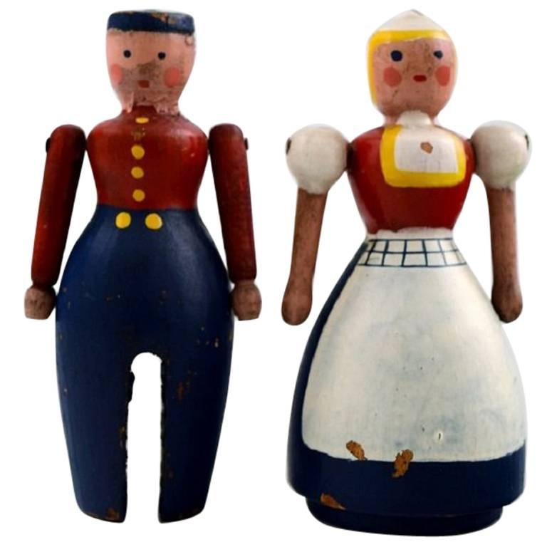 Rare Dutch Couple, Husband and Wife by Kay Bojesen