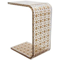 C Resin Side Table, Contemporary Side Table