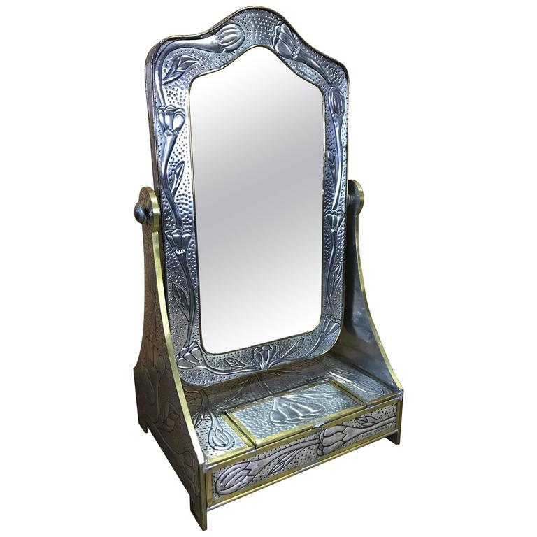 Art Nouveau Style Dressing Mirror, in the Manner of Liberty of London