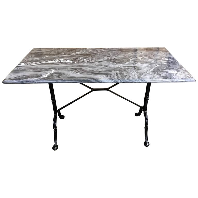Antique French Marble Top Bakers Bistro Table At 1stdibs