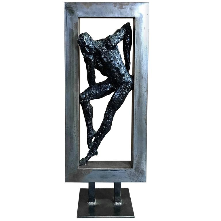 "Mid-Century Sculpture, ""Boxed Thinker"" 1"