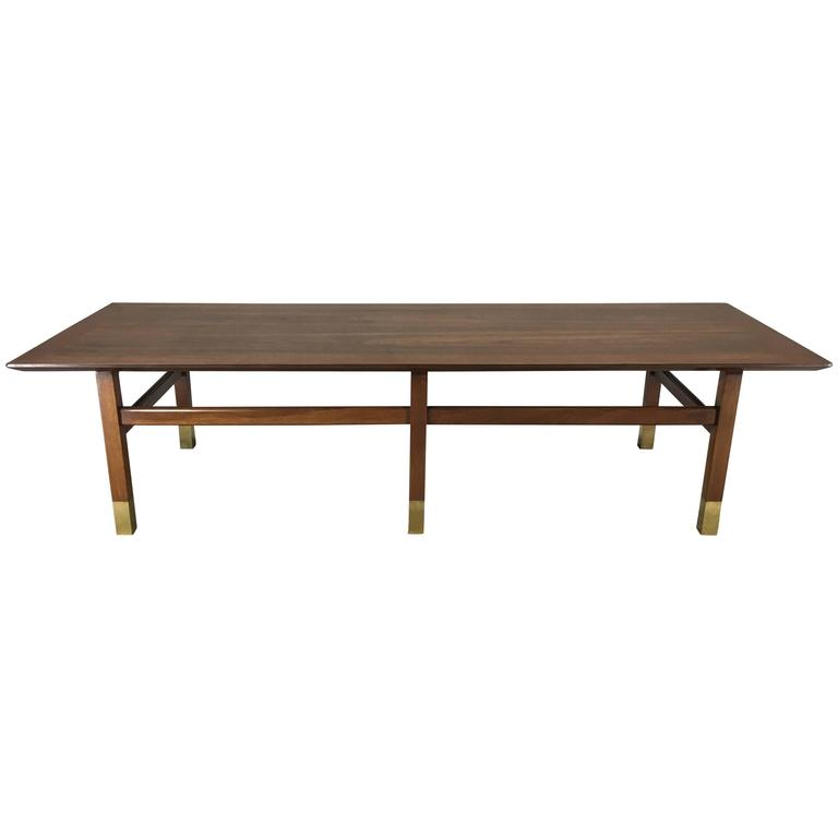 Large Walnut Harvey Probber Coffee Table For Sale At 1stdibs