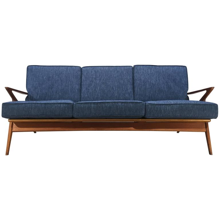 Danish Teak Z Sofa By Poul Jensen For Selig