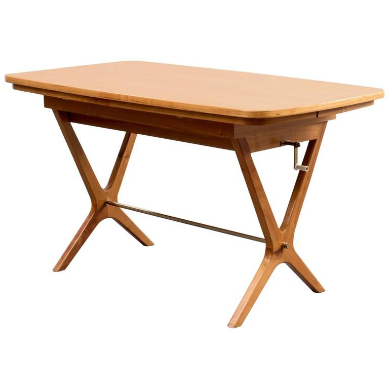 Delicate 1950s Coffee Table Height Adjustable Cherrywood At 1stdibs