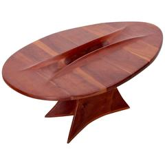 One of a Kind 1970s American Studio Free Form Coffee Table