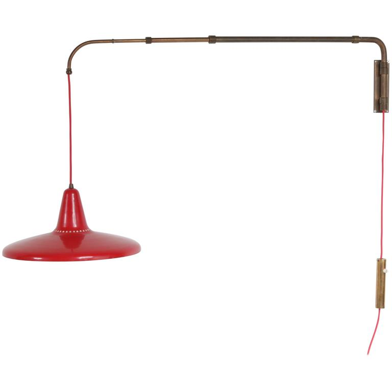 Extendable Wall Lamp style of Arredoluce, Italy, 1950 For Sale at 1stdibs
