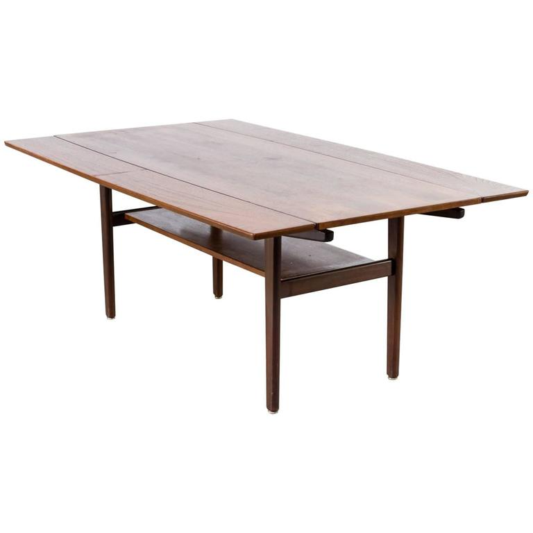 1960s Teak Extendable Coffee Table Attributed Vejle Bo Mobler
