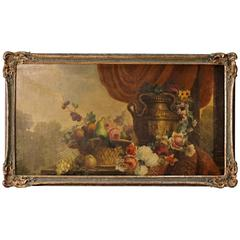 19th Century Still Life Painting Oil on Canvas