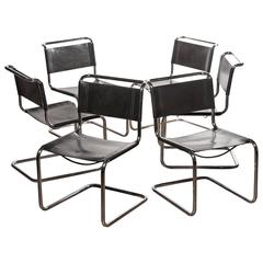 1970s, a Set of Six Dining Chairs by Mart Stam for Fasem