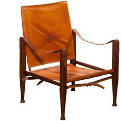 1930s, Kaare Klint Safari Chair for Rud, Rasmussen