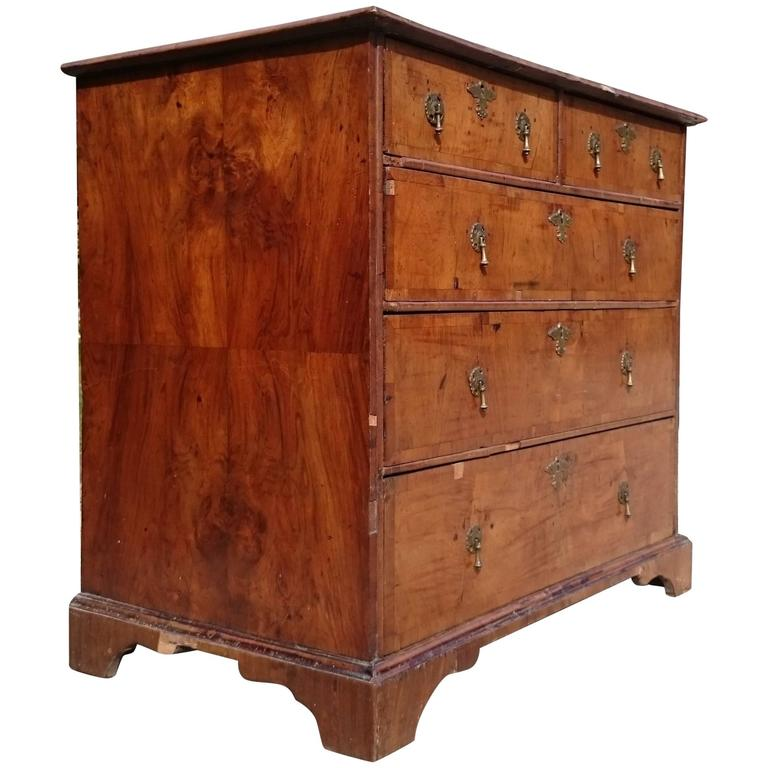 Early Th Century Walnut Antique Chest Of Drawers Circa  For Sale