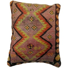 Primitive Turkish Rug Pillow