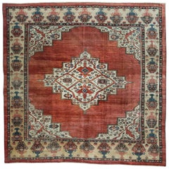 Square Antique Bakhshayesh Rug from Private Collection