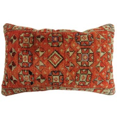 Orange Anatolian Rug Lumbar Pillow 12'' x 20''