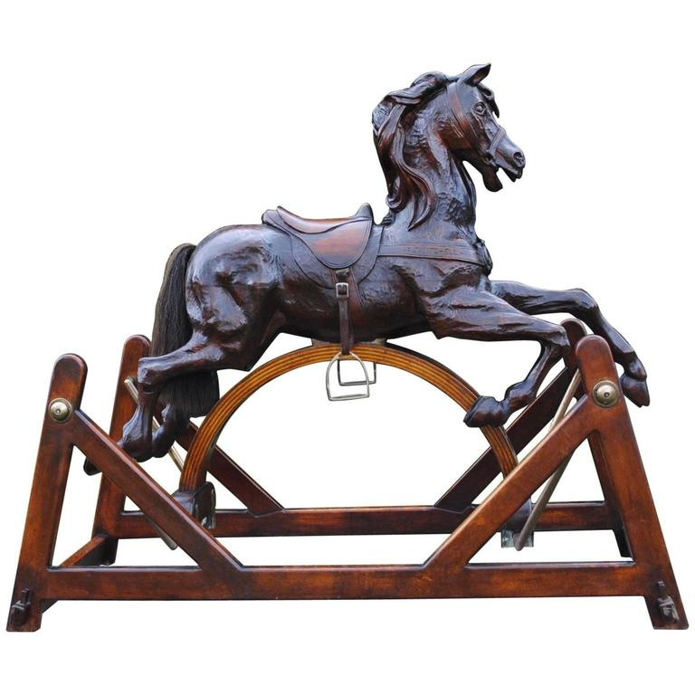 Amazing Carved Rocking Horse For Sale At 1stdibs