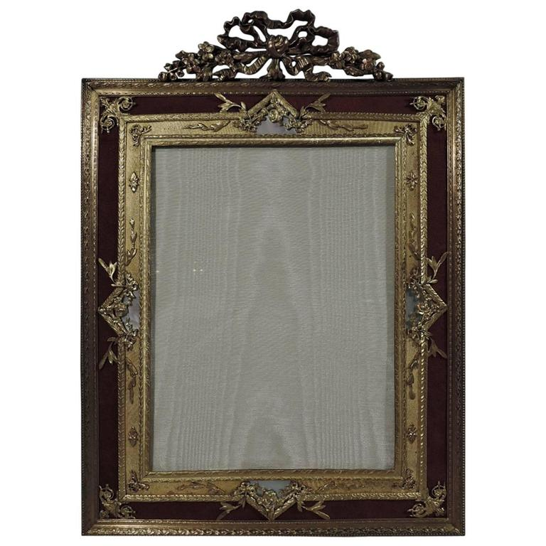 large antique rococo gilt bronze and mother of pearl picture frame 1 - Mother Of Pearl Picture Frame